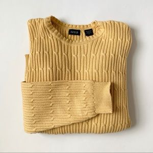 Izod Yellow Vintage Sweater Size Medium
